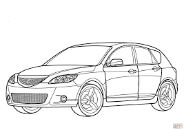 mazda 3 hatchback coloring page free printable coloring pages