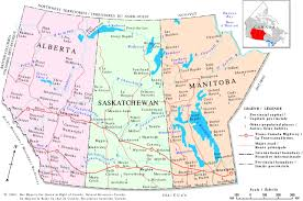 Map Of Canada With Provinces by The Prairies