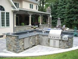 Outside Patio Bar by Stone Barbeques Stone Veneer Outdoor Barbecue Heritage Mica