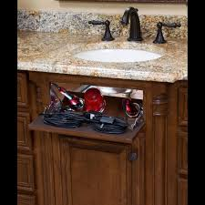 Bathroom Sink Organizer Ideas False Panel False Front Hair Tool Organizer Under Sink