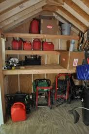 Building Wood Shelves In Shed by Organized Shed With Shelves Oneprojectcloser Com How To Build