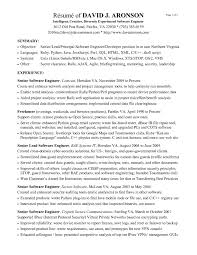 sle resume format for experienced software engineer spectacular good software developer resume on sle resume format