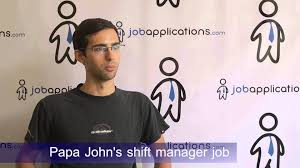 Shift Manager Job Description Resume by Papa John U0027s Interview Shift Manager Youtube
