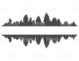 equalizer music sound wave vector symbol icon design stock vector