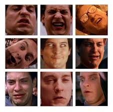Spiderman Face Meme - just a compilation of tobey maguire s best expressions funny