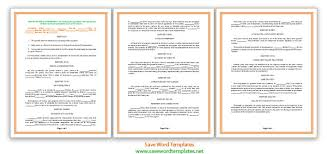 agreement templates archives save word templates