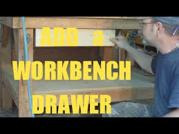 add a drawer under a table add a drawer to your work bench 1 2 3 youtube