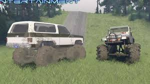 Ford Trucks Mudding Lifted - high volts gaming spintires mudding lifted on 54 u0027 u0027 k5 blazer and