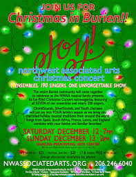 northwest associated arts christmas concert will be dec 12 u0026 dec