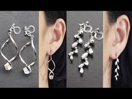 non pierced earrings invisible clip on earrings pierced look comfortable clip ons non