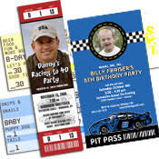 party411 personalized nascar u0026 racing invitations and party favors