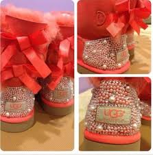 ugg s shoes coral ugg boots shoes coral ugg boots pearls bedazzled