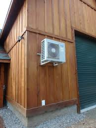 ideas wooden siding design ideas with ductless heat pump plus