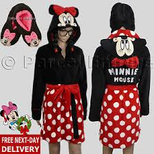 robe de chambre minnie official disney minnie mouse robe de chambre footlets peignoir