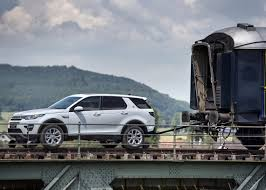 land rover discovery modified land rover discovery sport pulls 100 tonne train