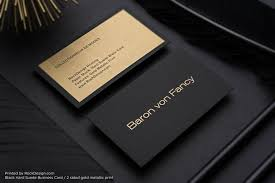 Business Cards 2 Sided Metallic Ink