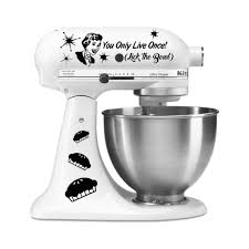 Purple Kitchenaid Mixer by You Only Live Once Lick The Bowl Funny Vinyl Decal For