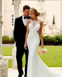 fitted wedding dresses style 6404 high neck fitted wedding dress by stella york bridal