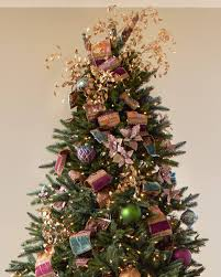 Decorated Christmas Tree Pictures With Ribbon by Specialty Christmas Tree Ribbon Balsam Hill