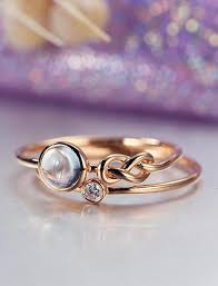 simple unique engagement rings unique engagement ring set gold moonstone wedding women