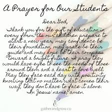 a back to school prayer for teachers and students gather grow
