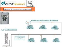 explain how to wire 6 recessed lights to one switch with power