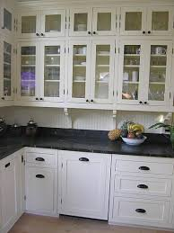 Victorian Kitchen Remodel Pic  Love The Handlepulls - Bead board backsplash