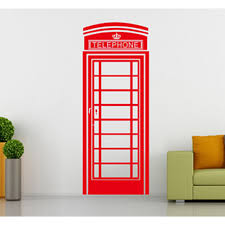 telephone booth telephone booth wall sticker fashion morden style london