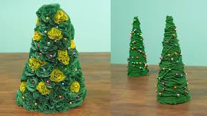 Homemade Christmas Tree by 2 Miniature Christmas Tree Caft Diy Projects Youtube