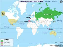 russia football map fifa world cup 2018 host country russia
