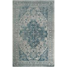 Grey And Blue Area Rugs Safavieh Restoration Vintage Blue Grey 5 Ft X 8 Ft Area Rug