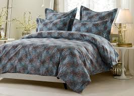 Duvet Covers Brown And Blue Bedding Charming 7 Piece Queen Embroidered Comforter Set Blue And