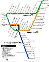 San Diego Downtown Map by San Diego Trolley