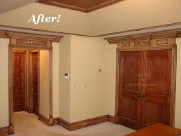 Bedroom Crown Molding Before U0026 After Master Bedroom Crown Molding U0026 Door Trim The Joy