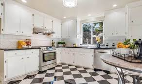 white kitchen cabinets black tile floor 30 black and white kitchen design ideas designing idea