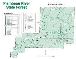 Chippewa National Forest Map Flambeau River State Forest Maplets