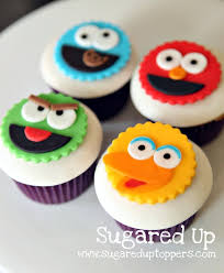 sesame cake toppers sesame fondant cupcake toppers by sugared up