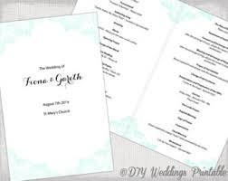 wedding program catholic catholic wedding program template etsy