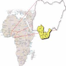 map 4 africa map of africa and nigeria showing the niger delta region of nigeria 4