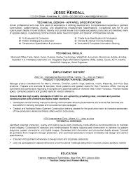 Technical Support Resume Template Free Technical Designer Resume Example
