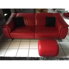 canapé pouf canapé pouf repose pied fauteuil en cuir légèrement