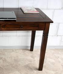Schreibtisch 130 X 80 Casa Schreibtisch Braun Nussbaum Pappel Massiv Kolonial Lackiert