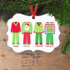 christmas pajama christmas ornament family christmas gift personal