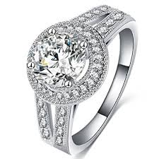 White Gold Wedding Rings For Women by Amazon Com Fendina Womens Jewelry Vintage Wedding Engagement