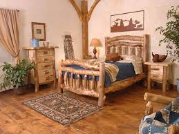 western decorating ideas in a stunning bedroom with beds and