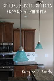 Kitchen Light Shade by Turquoise Pendants Light How To Dye Light Shades Diy Hometalk