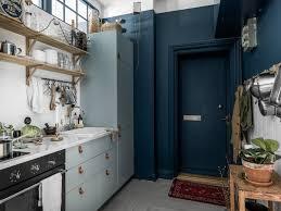Dark Blue Kitchen A Striking Small Kitchen In Light And Dark Blue Kitchen