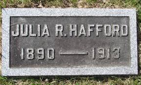 julia reed hafford 1890 1913 find a grave memorial