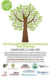 Tree Event Brantford Earth Day Community Tree Plant 92 Hamilton Kw