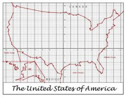coordinate plane graphing of the united states usa coordinate plane graphing partner